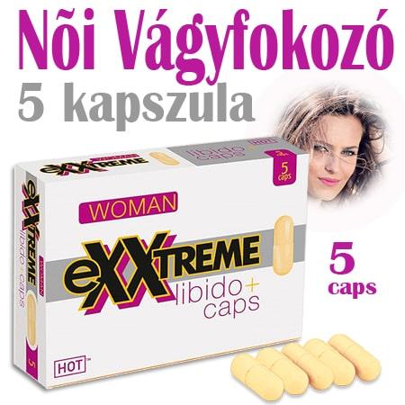 Exxtreme Libido *5 kapszula – Női vágyfokozó – 1 doboz