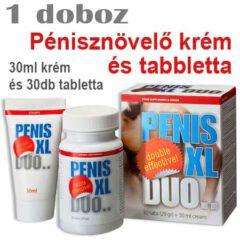 PENIS XL DUO Pénisznövelő krém és tabletta - 1 doboz